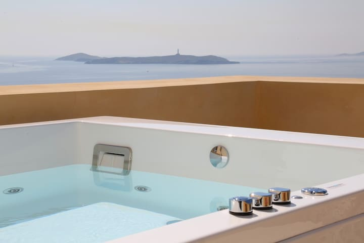 Exceptional Suite with sea view - Ερμούπολη - Bed & Breakfast