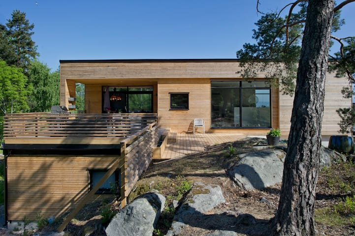 Large modern house in the Oslofjord