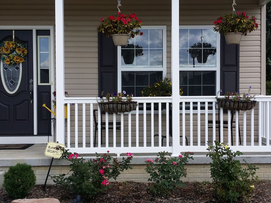 Enjoy the sunshine on our private front porch!