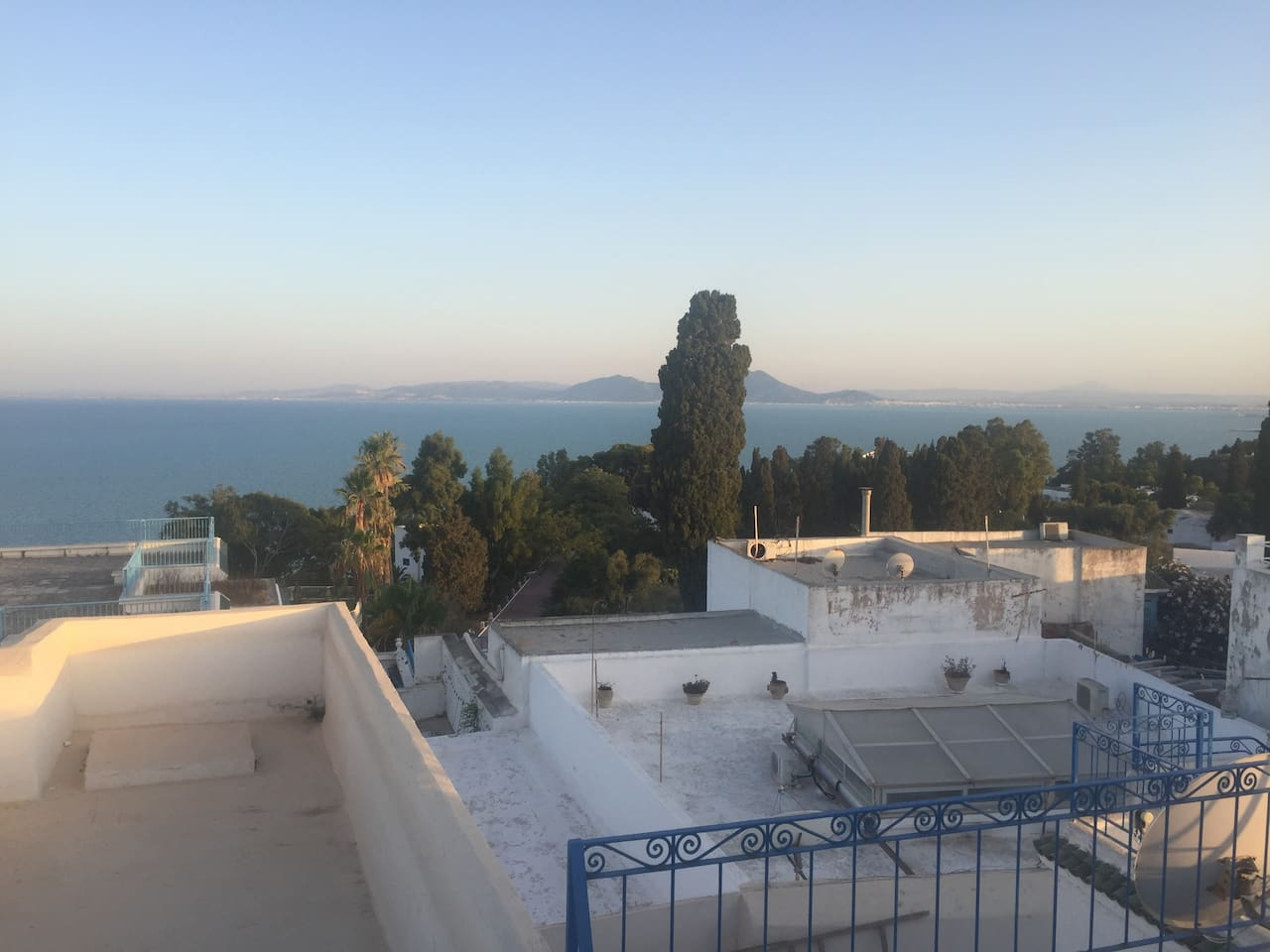 View from Upper Terrace of the Bay of Tunis