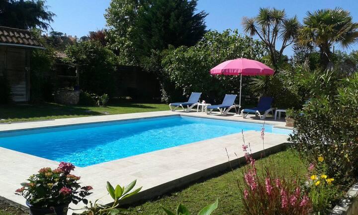 T3 2/6 pers piscine privée  à proximite des plages