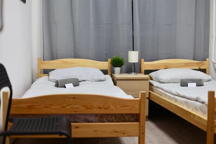 Двухместный номер с двумя раздельными кроватями