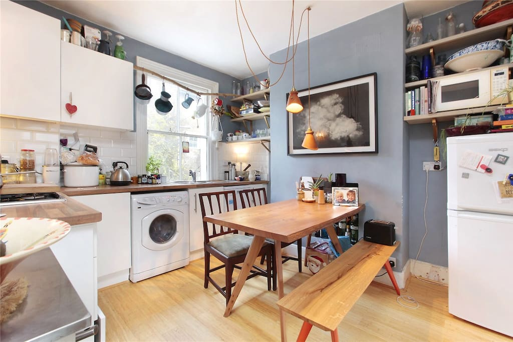 This is the kitchen with all the necessary bits and bobs!