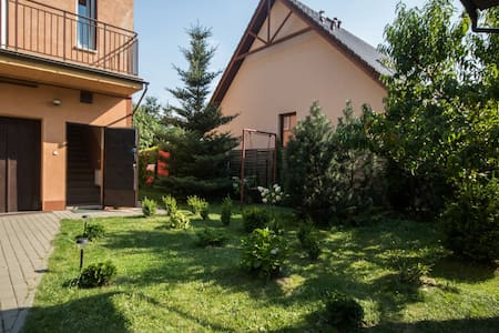Apartment with garden -12 mins by bus to centrum - Łódź