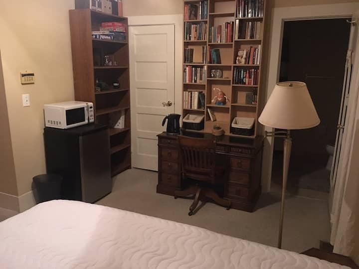 Private room with private bath & private entrance