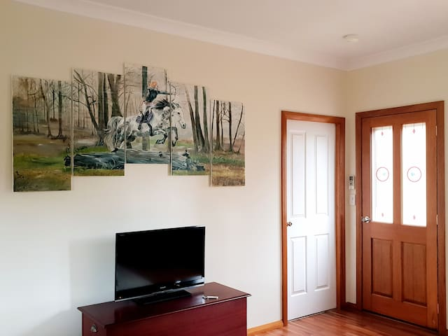 Classy entry door with our amazing painting.