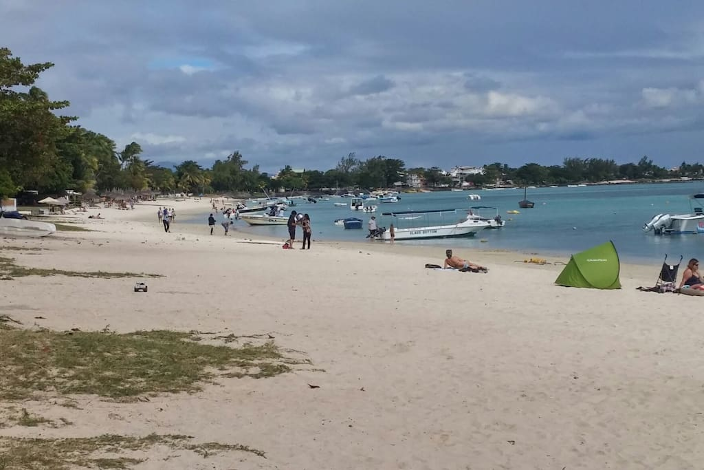 Trou aux Biches beach with available water sports activities