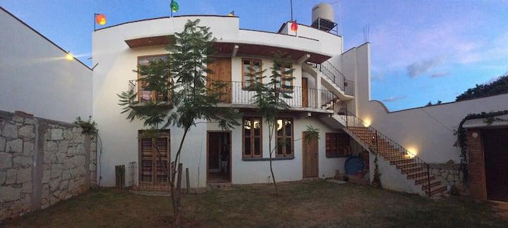 Casa De La Montaña Gran Vista En La Terraza