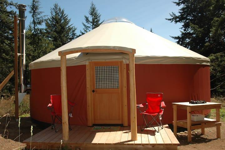 Yurt camping in Doe Bay area