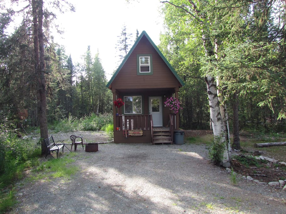 Cabin #1 with loft and full kitchen