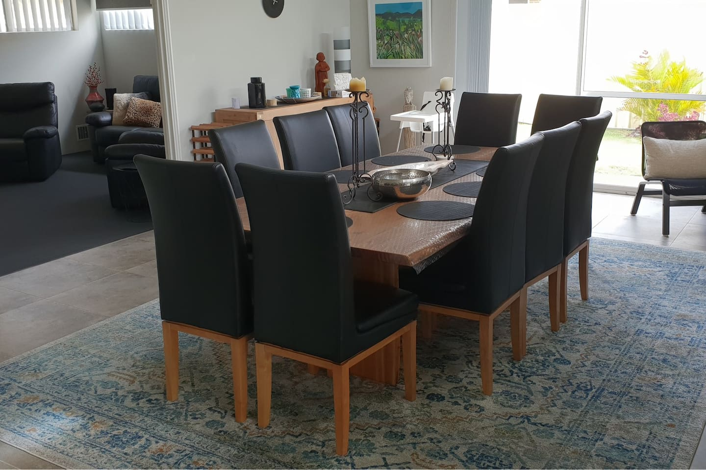 Dining room through to Theatre Room