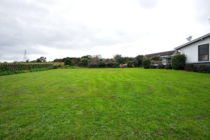 large back yard