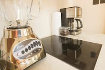 free organic coffee / blender and coffee maker