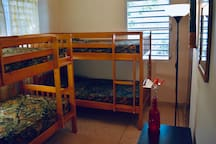 Third bedroom with 2 bunker beds (4 twin size beds).