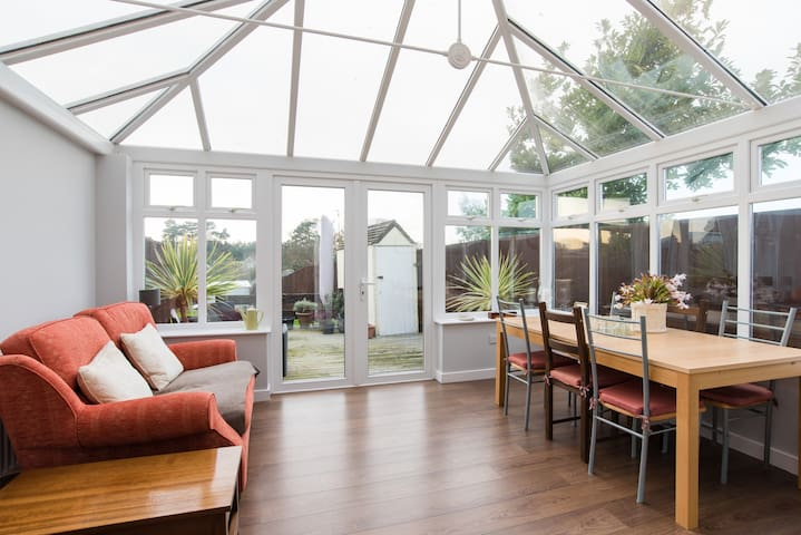 Our conservatory where you can eat or just relax.