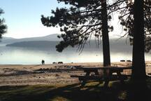 Walk or bike to North Tahoe Beach, less than a half-mile away