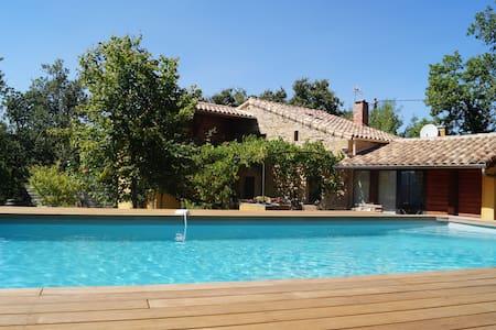 Mas des Lauzes - piscine et nature - Soumont - 独立屋