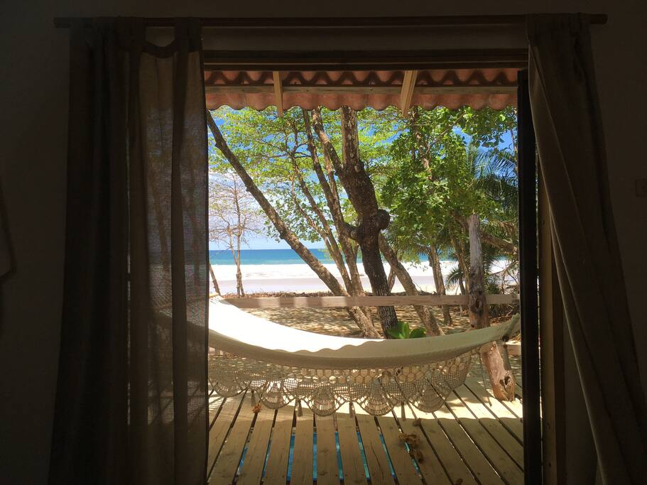 View from main room towards the beach and the sea