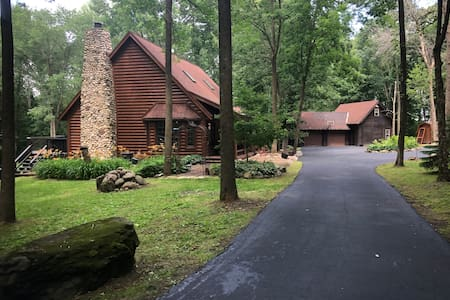 Beautiful Oconomowoc Log Home  on 5.7 acres