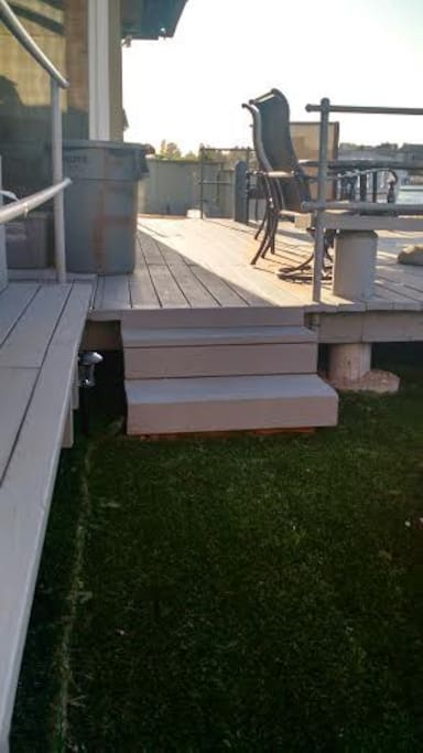 Steps to the deck