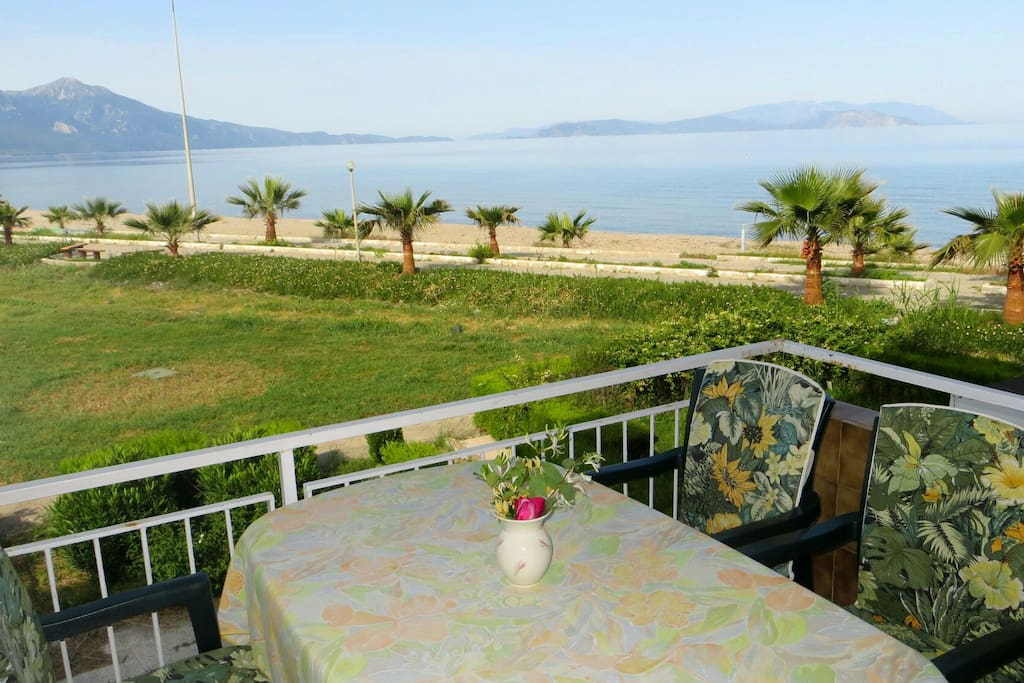 Balcony with panoramic view of Samos Island and National Park