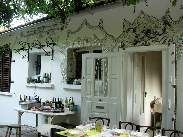 maison et jardin dans la campagne - Messein - Huis