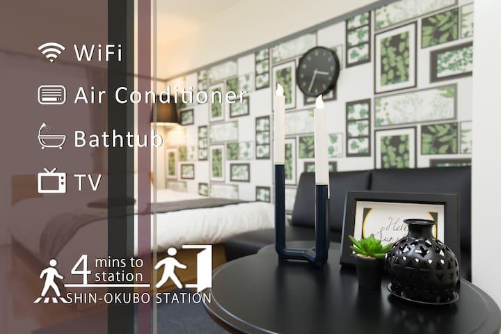 Tokyo Shinjuku 4min STA stylish room 8pax TV+WiFi - Shinjuku-ku - Lägenhet