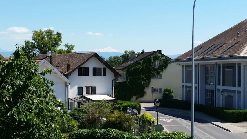 Nice room with a view to Mont Blanc - Prangins