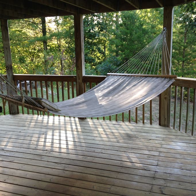 Two hammocks perfect for reading or napping