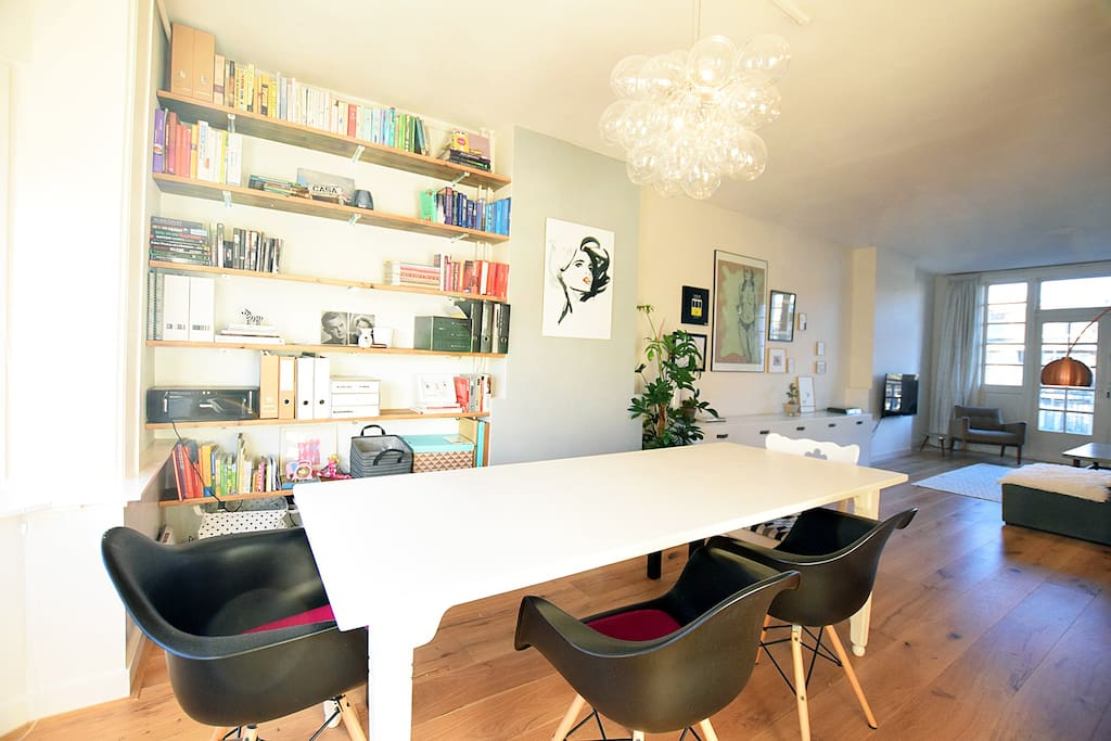The dining table, you can make it your work place