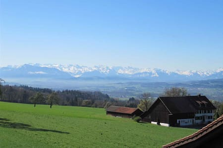 Apt for 7 with awesome view of the Swiss Alps - Oberwil-Lieli - Huoneisto