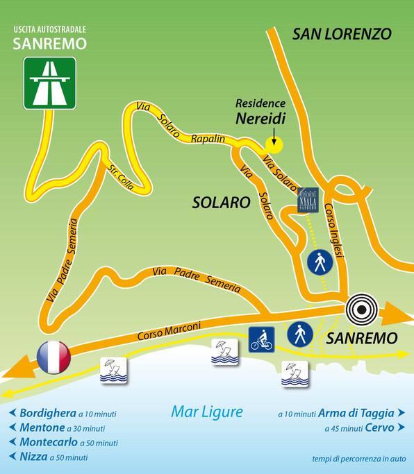 uscita autostr  Sanremo Ovest seguire cartelli Hotel Nyala...