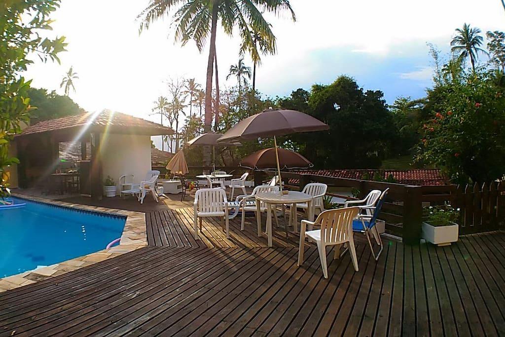 Área do deck da piscina
