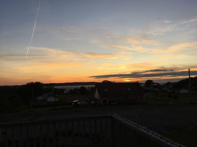 Enjoy beautiful sunsets off the deck