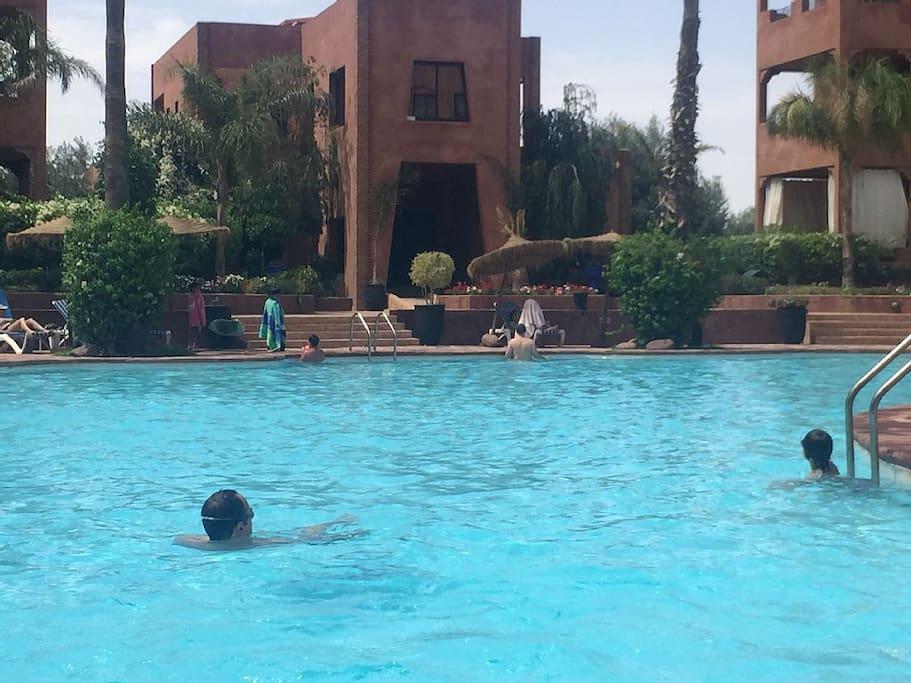Très grande piscine pour adulte et une petite piscine pour enfants