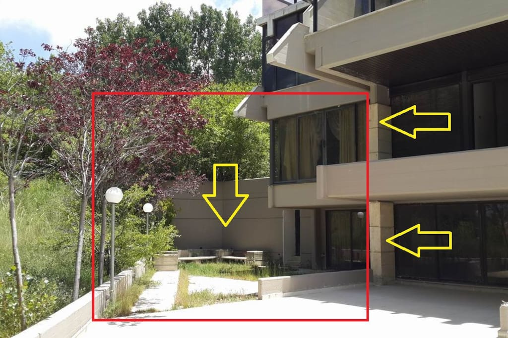 The duplex + garden marked in red, not the entire complex
