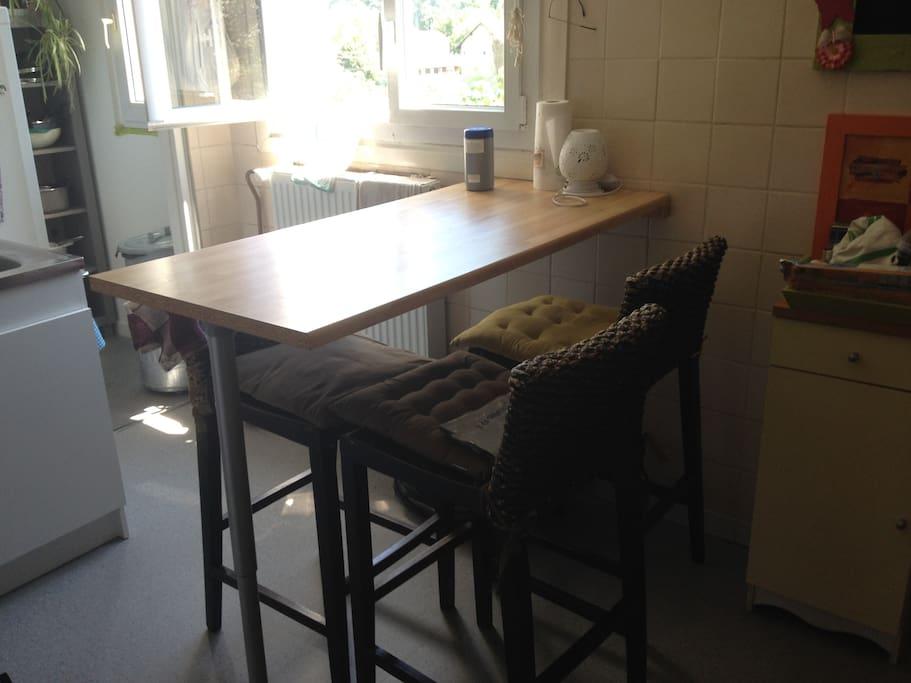 Cuisine avec tout l'équipement