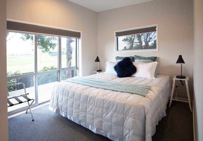 Super king bed that can be made into two king singles dependant on guests requirements