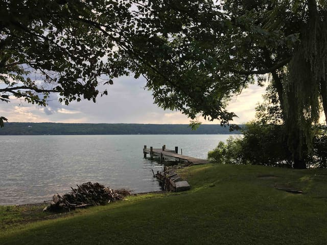 Cayuga Lake Retreat with Level Lake Front