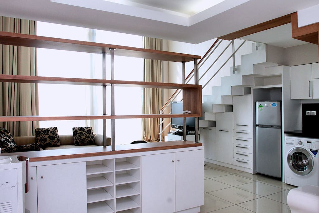 Spacious lofts style unit at the heart of Jakarta