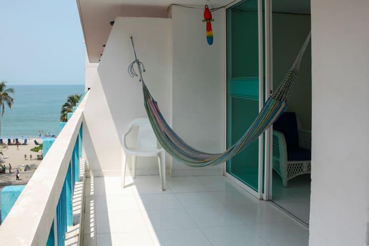 Apartamento con balcon y vista al Mar 506KA - Santa Marta (Distrito Turístico Cultural E Histórico) - Appartement