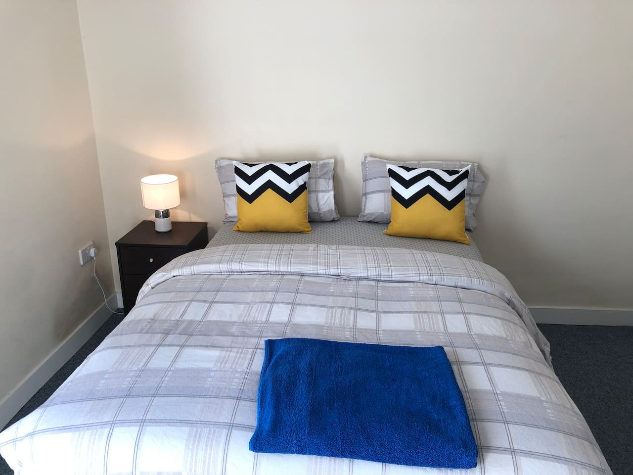 Your double bedroom featuring a double bed