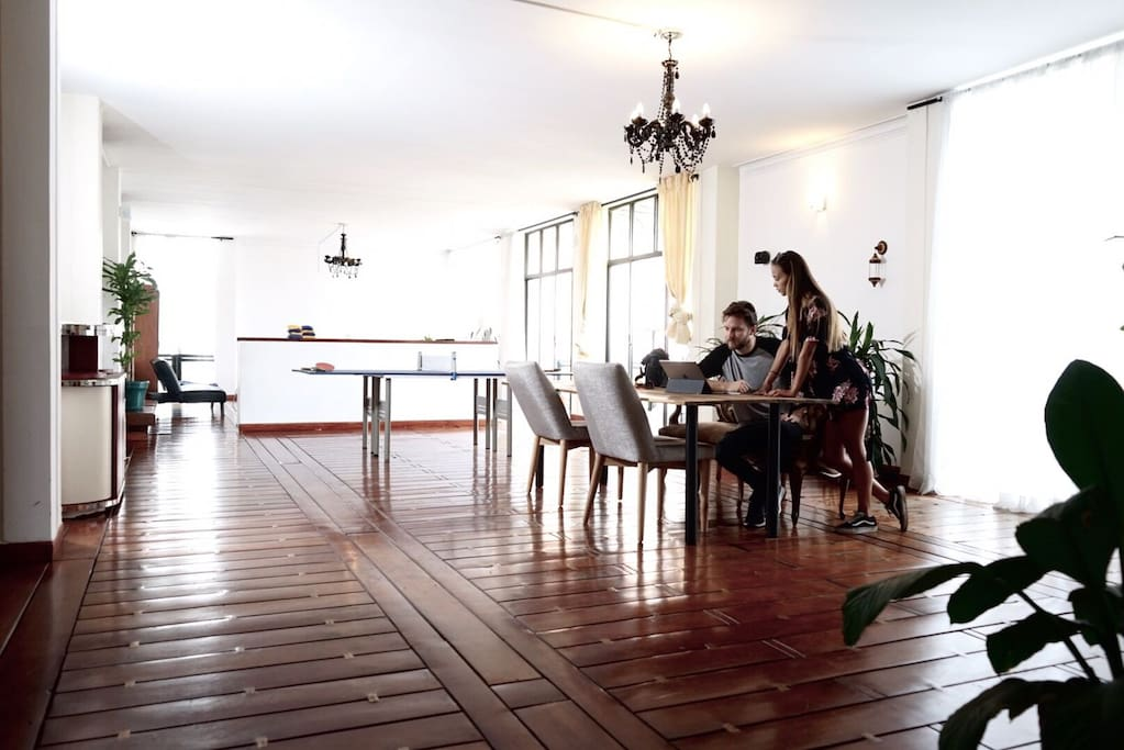 Huge Living Room and Workspace