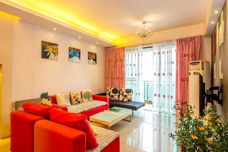 武侯祠锦里/宽窄巷子/春熙路  温馨大套二  双卧景观套房 - Chengdu - Apartament