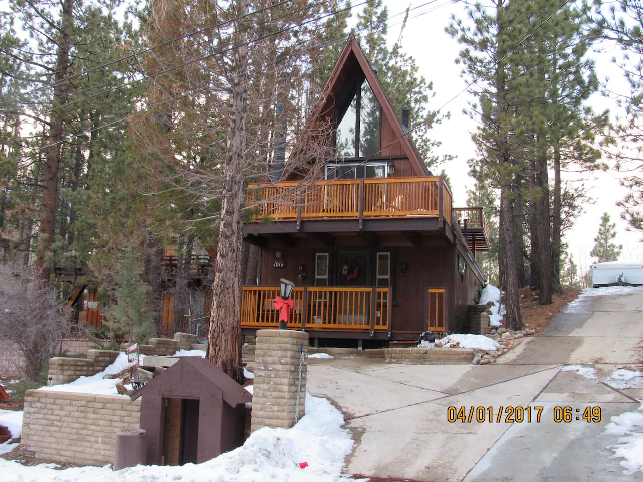 cabin lake ca cabins rental christmas california rent vacation for big snow rentals bear in summit