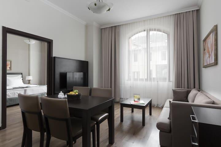 Апартаменты с кухней+бесплатная канатка до 960м