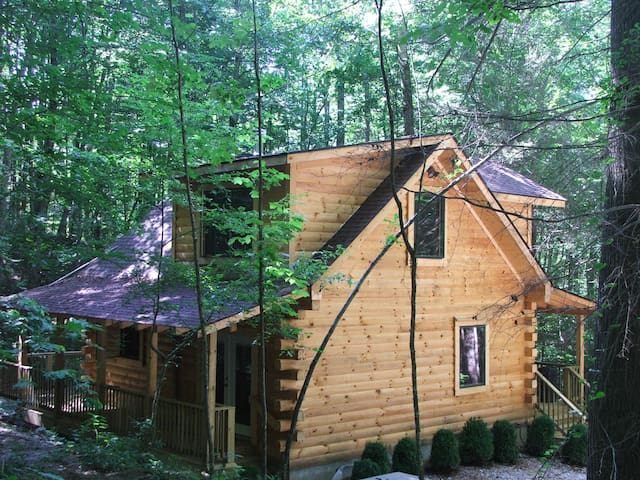 AMAZING & COZY LOG CABIN IN WOODS - Robbinsville - Chalet