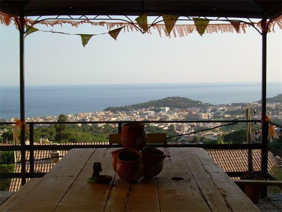 Impresionantes vistas al mar desde la carpa-