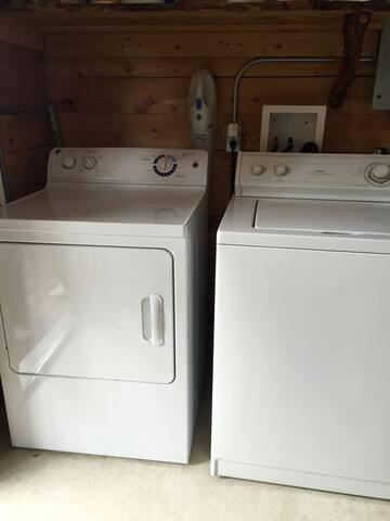Available washer & dryer in Shower House