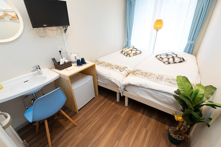 7min walking to Ginza! Twin bed Room!! 6-3h